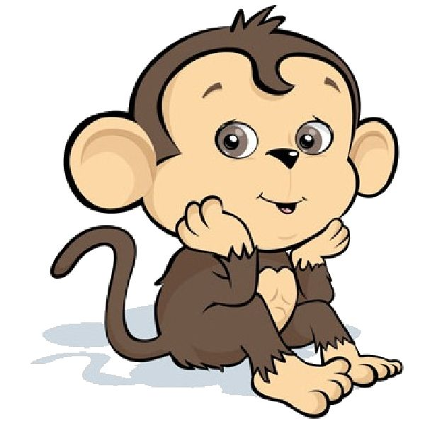 cartoon-monkey-image_12.png (600×600) | Cakes - Prints ...