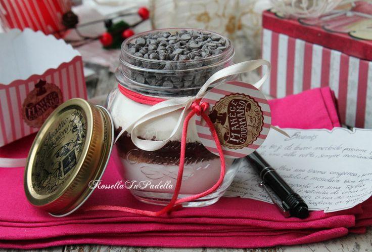 Preparato per torta brownie in barattolo, idea regalo