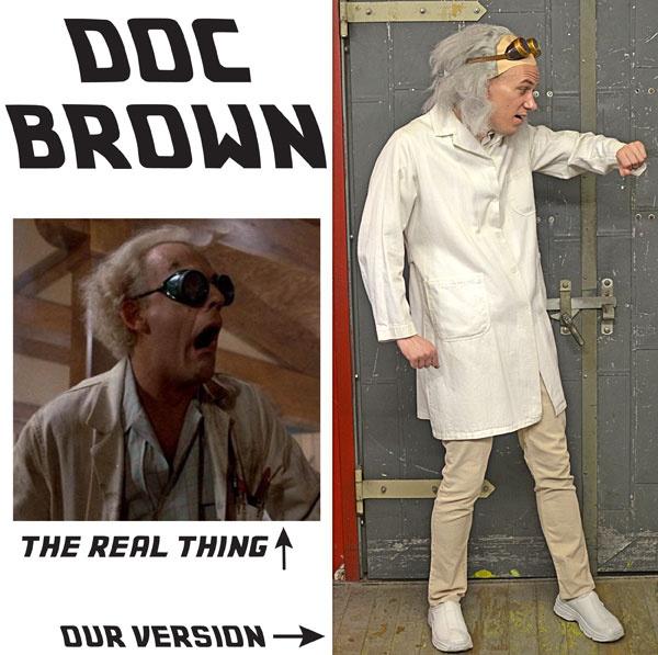 Doc Brown #costume #DIY #Halloween
