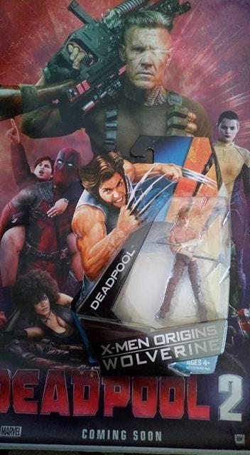 marvel x men origins wolverine deadpool 4 figure deadpool 2 silk poster hasbro