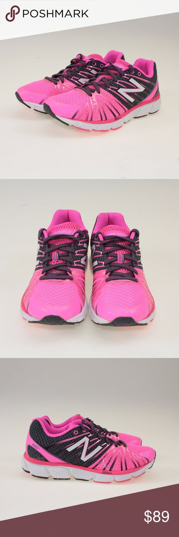 New Balance Pink Ribbon 890 V5 Running Shoes These adorable running shoes are the perfect way to show your support--of the cause and your feet! The Pink Ribbon 890v5 combines the REVlite midsole with the ABZORB crash pad for supreme comfort and impact protection. But with the FantomFit, Ortholite sock liner and no-sew overlays, this shoe is incredibly light-so you can feel incredibly fast. #40WJDW New Balance Shoes Athletic Shoes