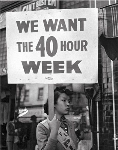 We Want the 40 Hour Week, San Francisco, 1934 by John Gutmann (probably during the General Strike)