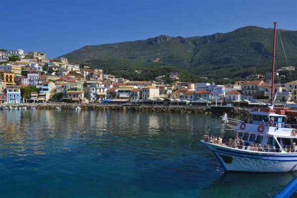 View over the town of Parga