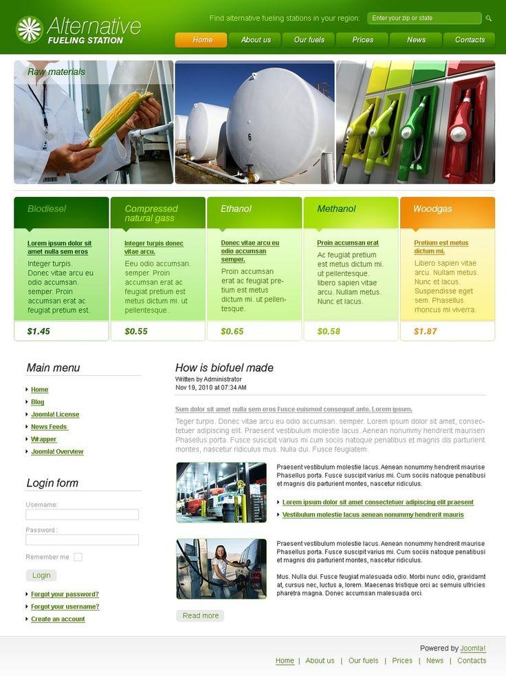 Alternative Fuel Joomla Templates by Glenn