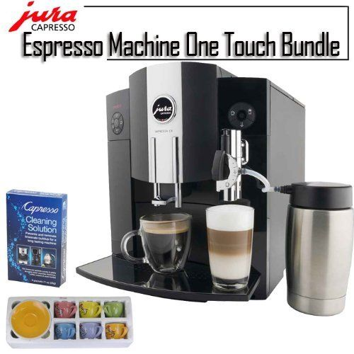 Jura 1342299 Impressa C9 Refurbished Piano Black Espresso Machine One Touch Bundle by Jura. $1399.00
