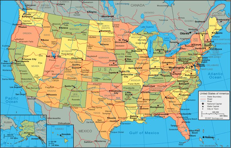 13 best mapas maps images on pinterest maps world maps and barbados united states of america political map gumiabroncs Image collections