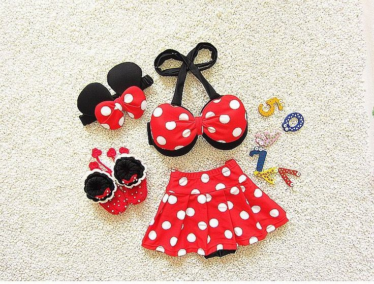 48.95$  Buy here - 2017 New Girl Swimwear Polka Dot Skirt Cartoon Hot spring Bikini Fashion Two Piece Swimming Suit 2-8Y 7666   #shopstyle