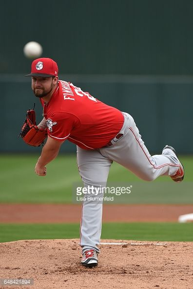 News Photo : Brandon Finnegan of the Cincinnati Reds pitches...
