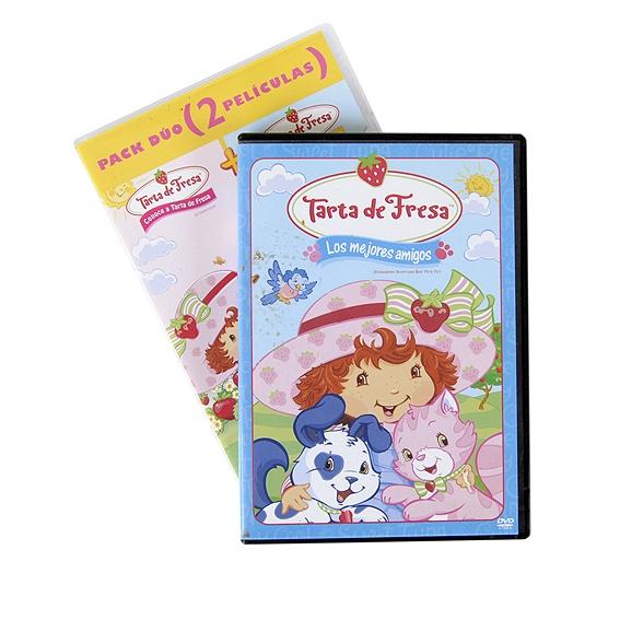 """""""Tarta de fresa"""", dos cajas de DVD, uno de ellos doble, con las historias de la pandilla. 14 puntos Creciclando.  #DVD #tartadefresa #niños #película #dibujosanimados #trueque"""