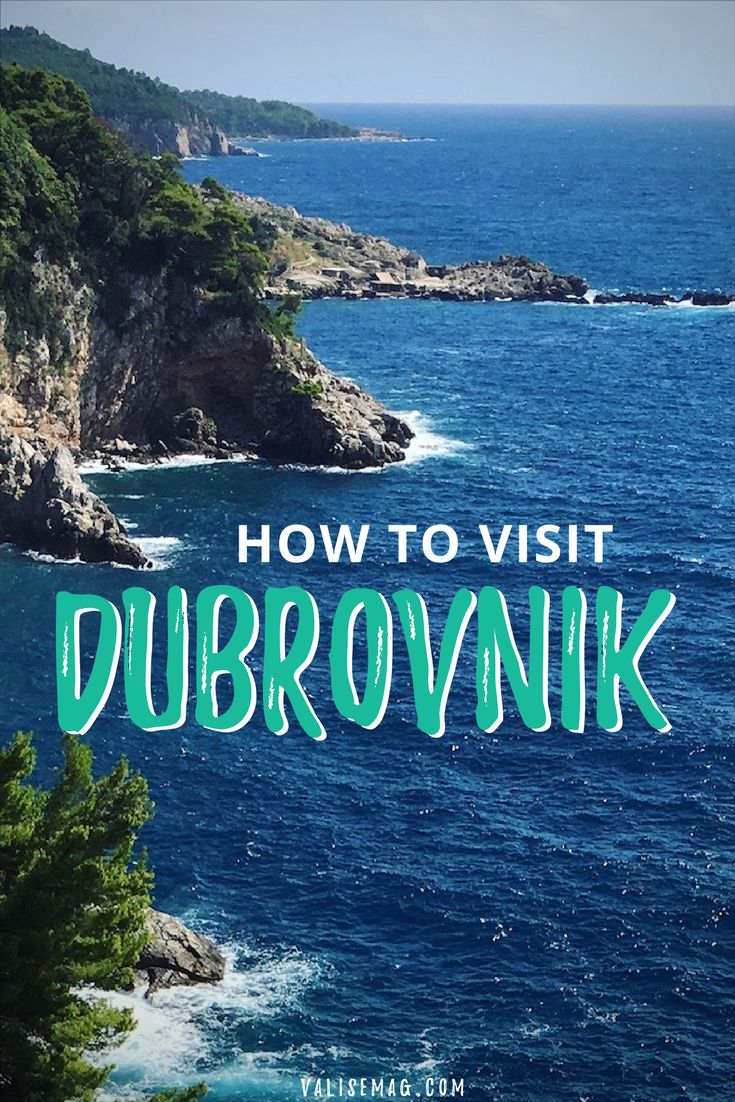 How to visit Dubrovink, Croatia. Best time of year to visit, where to stay, plus what to see, do & eat! via @valerievalise/