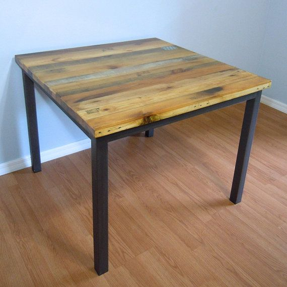 Best 25 dining table sale ideas on pinterest wood for Square iron table legs