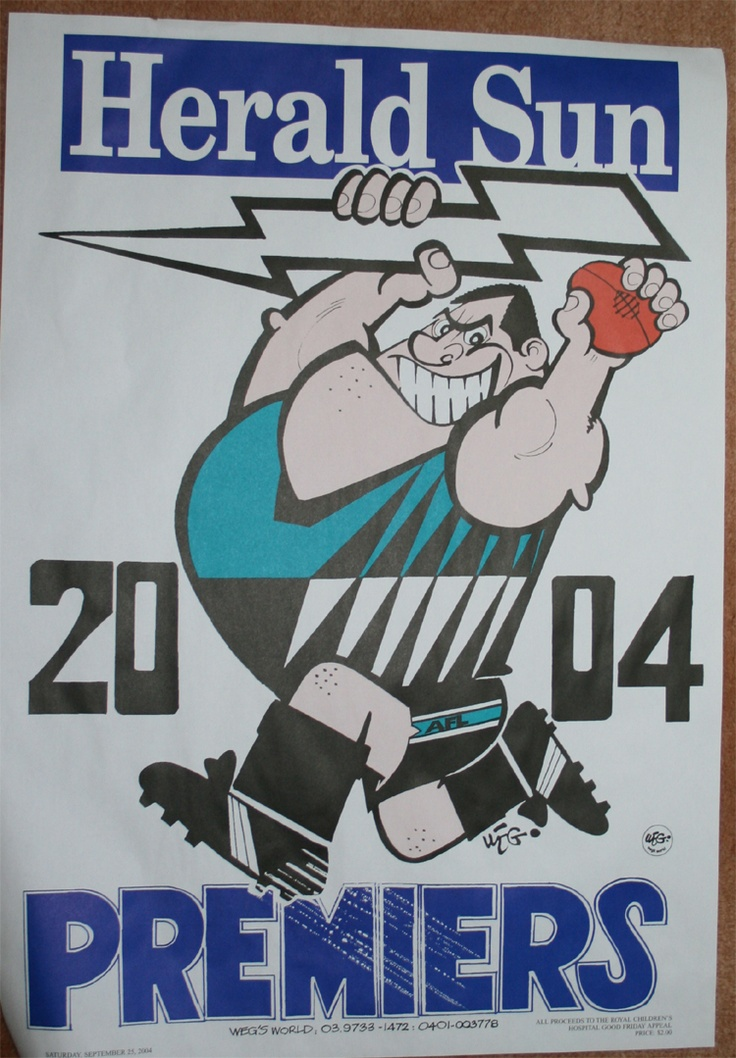 Premiers Poster 2004 Port Adelaide Power