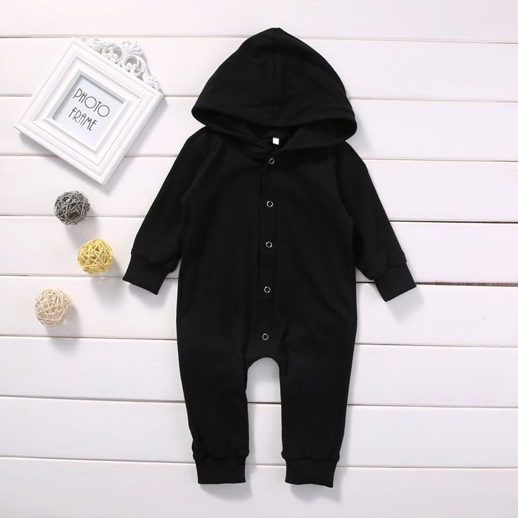 Toddler Infant Newborn Baby Boy Clothing Romper Long Sleeve Black Jumpsuit Playsuit Clothes Outfits 0 24M. Click visit to buy
