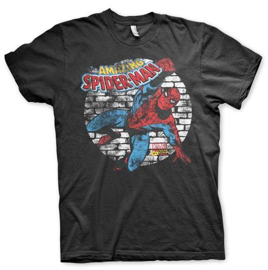 Marvel Distressed Spider-Man Koszulka Męska