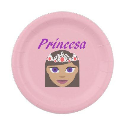 Princesa (Princess) Paper Plate - home gifts ideas decor special unique custom individual customized individualized