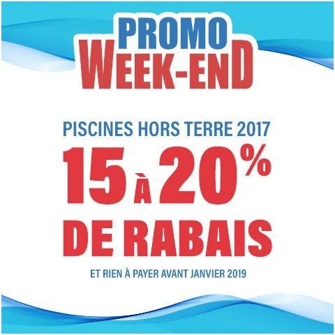 Promo Week-End!! Obtenez de 15 à 20% de rabais sur nos piscines Hors Terre! 😲 #spécial #promotion #piscines #rabais #deal