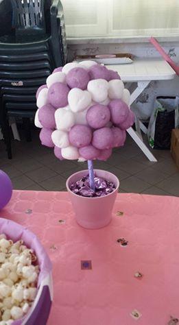 alberelli festa a tema Violetta