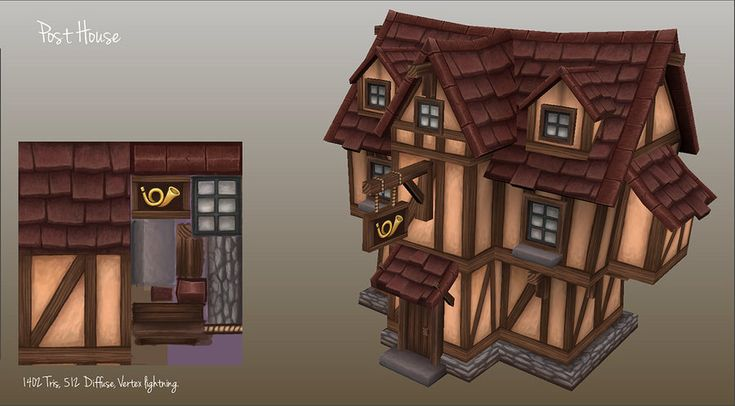 old house model in progress for a little personal test project. used sketchup 6.