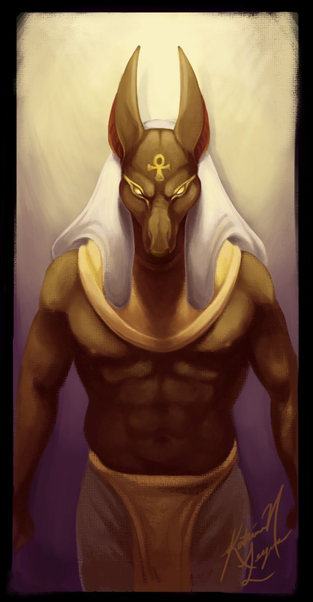 Egyptian God of Embalming by ~NoSafeHaven on deviantART