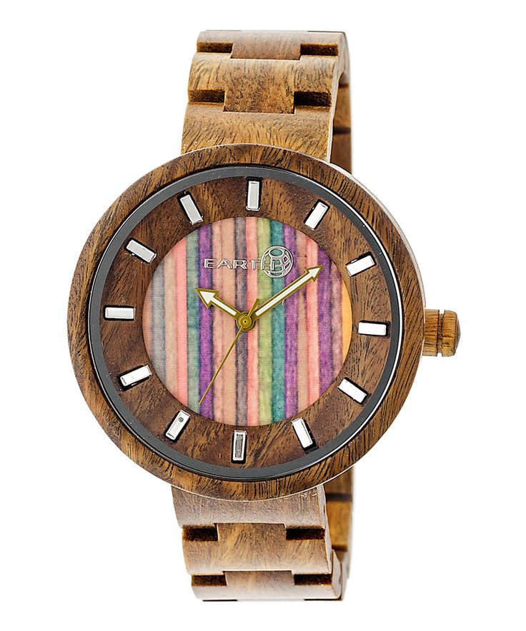 Another great find on #zulily! EARTH wood watches Olive & Multicolor Root Wood Bracelet Watch by EARTH wood watches #zulilyfinds