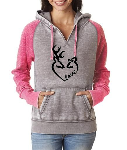 Southern Sisters Designs - Love Buck and Doe Contrast Hoodie, $36.95 (http://www.southernsistersdesigns.com/love-buck-and-doe-contrast-hoodie/)