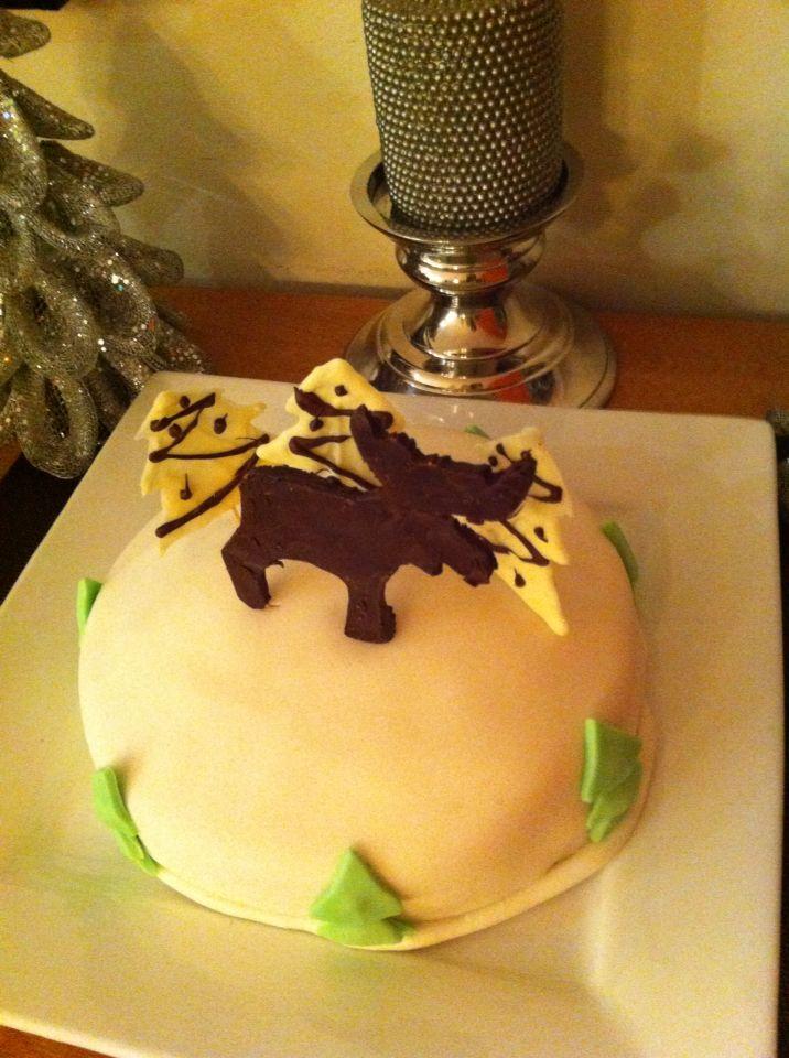 Gâteau (première utilisation du fondant à vie) de Noël