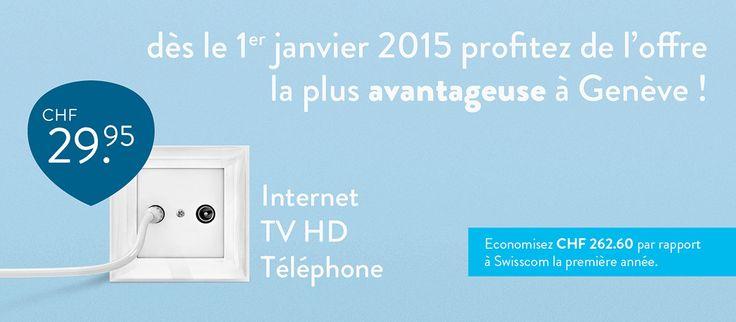 Avec 29.95.-/mois  - Internet  - Téléphone  - TV HD  naxoo le réseau qui relie les genevois