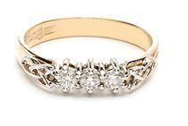 Womens Warrior Irish Wedding Ring White Gold | Irish Wedding Rings