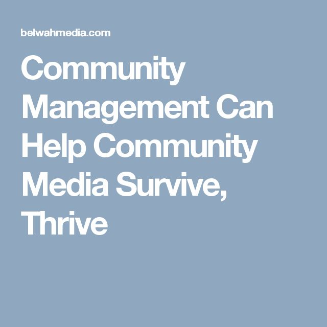 Community Management Can Help Community Media Survive, Thrive