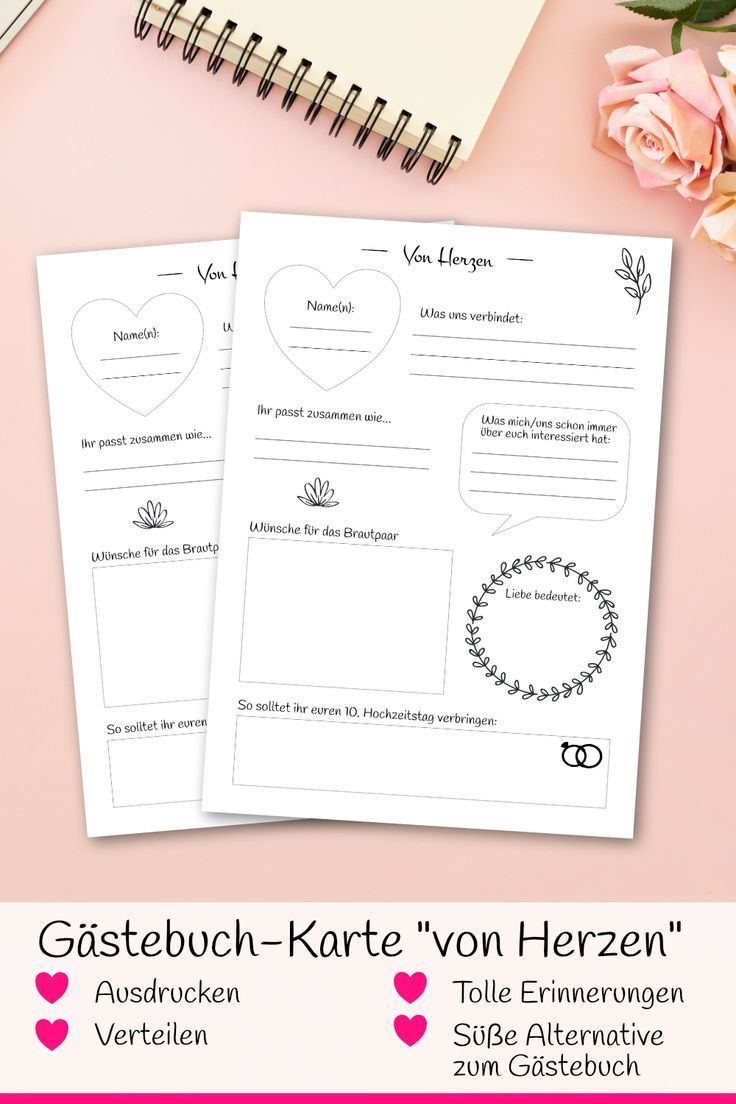 Hochzeit Gastebuch Karten Von Herzen Mit Fragen Zum Ausfullen Als Pdf Zum Selbstdruck Gastebuch Hochzeit Gastebuch Hochzeit Gestalten Hochzeitsbuch
