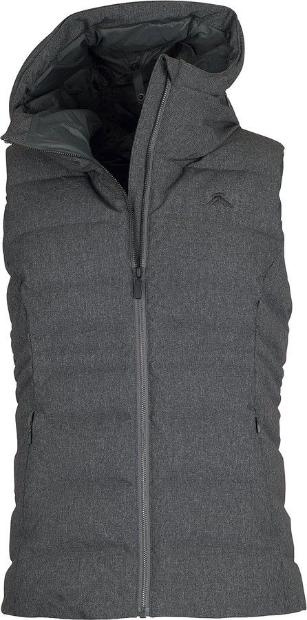 Beat the chill - and do it in style with the warm, cosy and smart Callisto Vest. Made with soft melange nylon-polyester face fabric and filled with cosy 600 loft duck down, this urban puffer vest is the perfect outer layer to keep you warm on your daily commute or weekend adventures around the city. Layer it over long base layers, or cosy hoodies for extra warmth and versatility of look. It features a high collar with a zip-away oversized hood and an internal zip flap to keep the cold out…