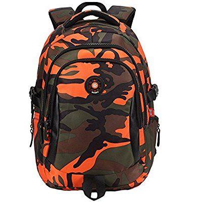 KinderRucksack Jungen Wasserdichter Backpack Schulrucksack Camo für 3 - 6 Klasse Kinder