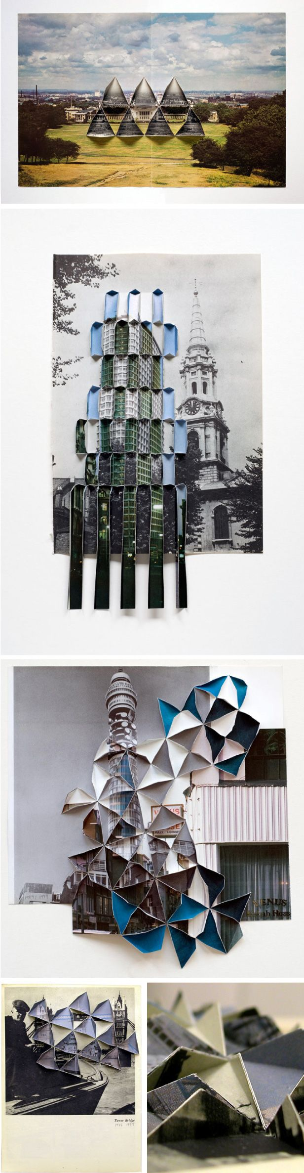 Abigail Reynolds paper art - spliced photographs, collage, paper folding http://www.abigailreynolds.com/