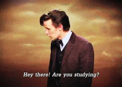 The Doctor giving some motivation for studying. Pinning this for later.
