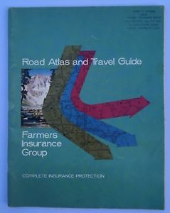 Road Atlas Travel Guide Maps Farmers Insurance Group Vintage 1967 H M Gousha Co  | eBay