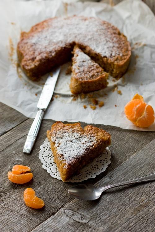 Gâteau à la farine de châtaigne et clémentine