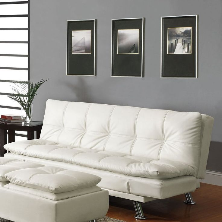 Coaster Fine Furniture White Futon - Lowes.com