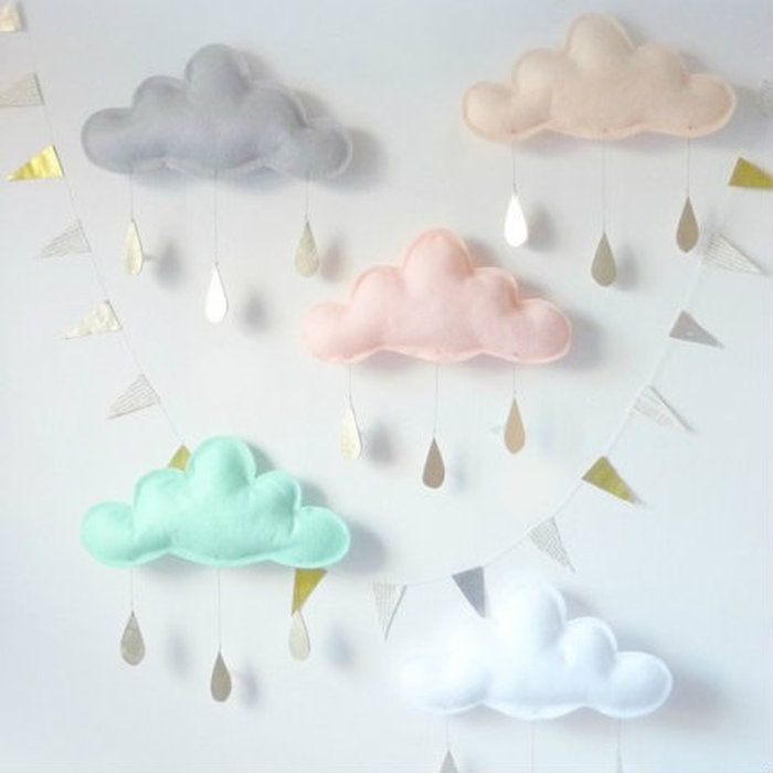 モビールガーランド【TheButterFlyingザ・バターフライング】【CloudmobileSpringクラウドモビール】【雲のモビール】【インポート雑貨インテリアプレゼント】【子供部屋】【海外作家ブランドハンドメイド】エルデコ