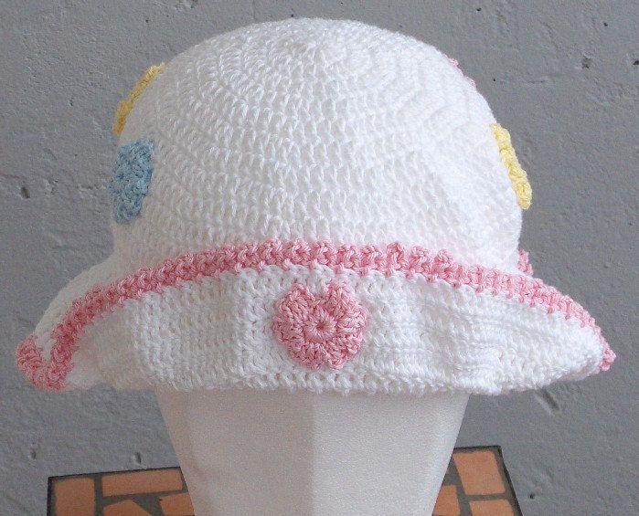 Crochet baby hat,toddler summer hat, sun hat, summer hat, baby crochet, beach hat, flower hat summer bonnet, crochet beach hat by Hildescrochetshop on Etsy
