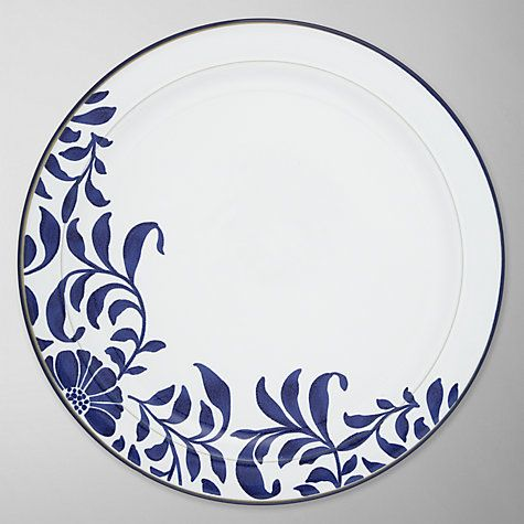 Buy Denby Malmo Bloom Dinner Plate, Dia.27cm, Blue/ White Online at johnlewis.com