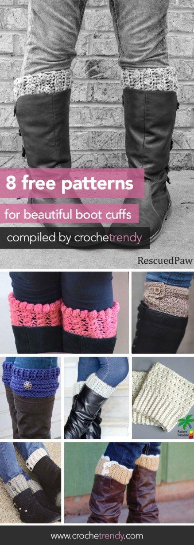 8 Free Boot Cuff Crochet Patterns | Roundup by Crochetrendy.com