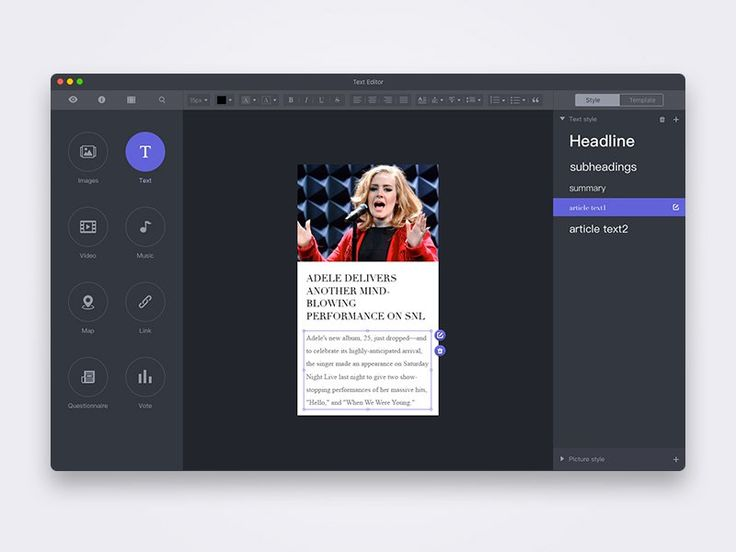 Text Editor UI