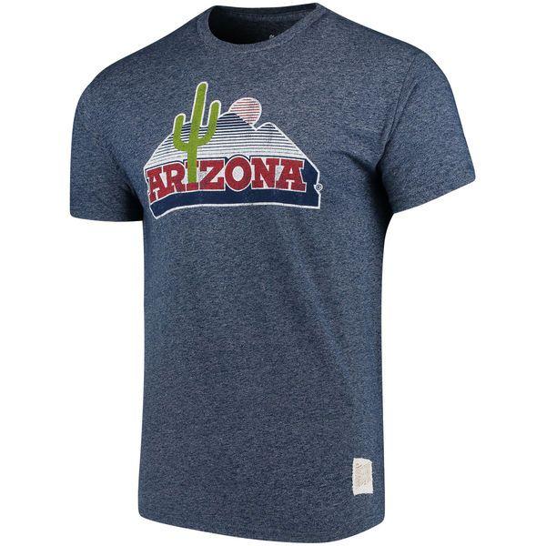 Arizona Wildcats Original Retro Brand School Logo Mock Twist T-Shirt - Navy - $29.99
