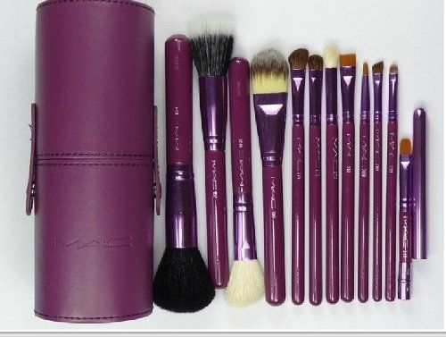 Professional Makeup MAC Brush Set 12 pcs Kit / Leather Cup Holder Case Purple color Makeup Brush Set 12 pcs Kit,http://www.amazon.com/dp/B00D7EK91G/ref=cm_sw_r_pi_dp_n47xtb0YTXRKDMWF