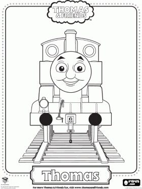 """Thomas and Friends coloring pages. Can """"paint"""" using a mouse, or print to color."""