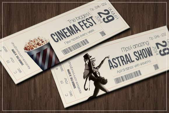 Multipurpose retro ticket V.2 | Creative, Awesome and Graphics