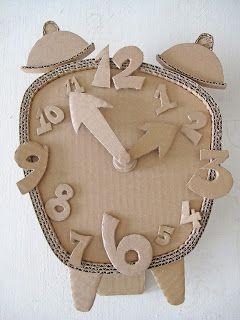 #DIY Cardboard Clock | cardboard-crafts