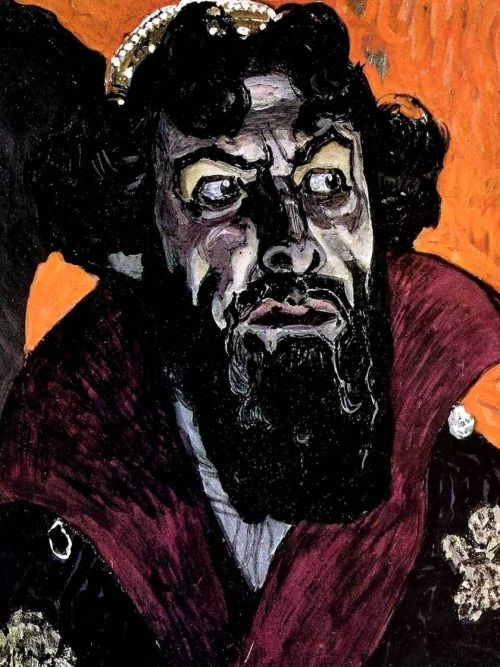 """Portrait of Chaliapin as Boris Godunov"" A.Golovin (1912)  ""Портрет Шаляпина в роли Бориса Годунова"" A.Головин(1912)"
