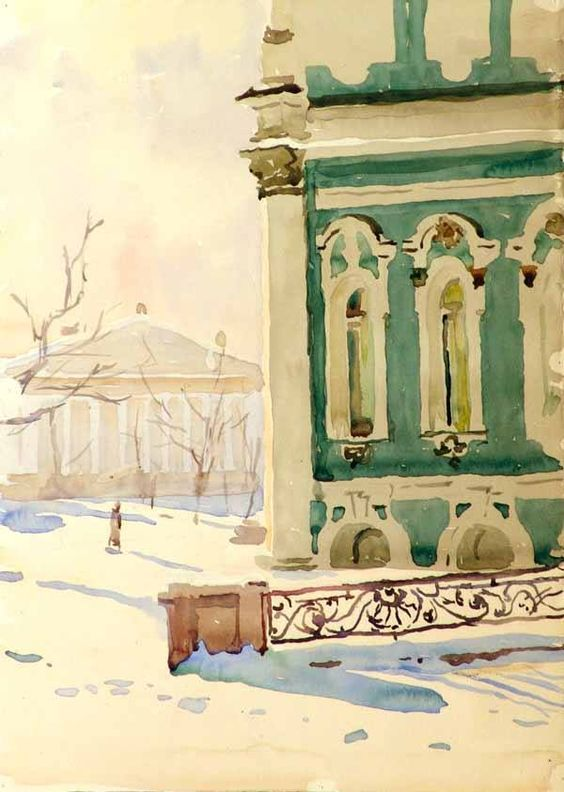 Ромодановская Антонина - Ленинград. Зима