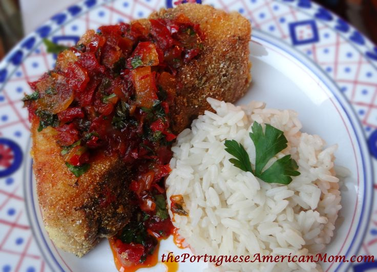 Pan Fried Sea Bass Portuguese Style (Garoupa Frita com Molho)